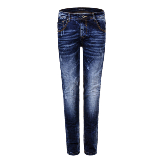 Herren Jeans Dark Used Denim Jeans Slim