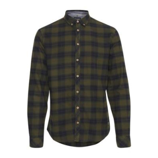Blend Herren Hemd Slim Karo Night Green