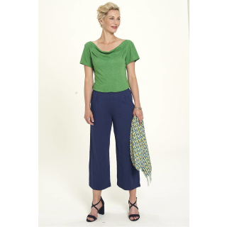 Tranquillo Damen Cropped Hose Coulotte Navy